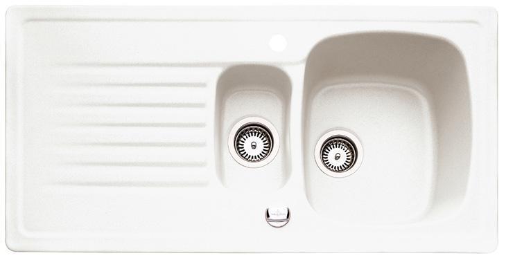 Buget Star bei hometec Wohnwelt: dauerhaft günstig online kaufen die Villeroy & Boch Keramikspüle Targa 6o in weiß alpin