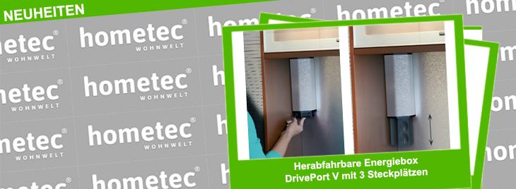 Herabfahrbare Energiebox DrivePort-V mit 3 Steckplätzen Zubehör Arbeitsplatte
