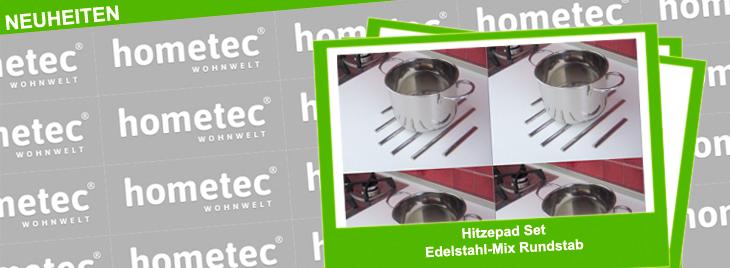Neuheit von Sagemüller & Rohrer Hitzepad Set Edelstahl-Mix Rundstab und damit braucht man keinen Topflappen mehr.