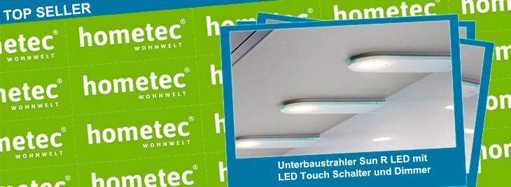 Naber Top Seller Unterbauleuchte Sun R LED mit Touch Schalter und Dimmer
