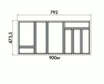 90er besteckeinsatz move f r nobilia hettich ausz ge arcitech zarge. Black Bedroom Furniture Sets. Home Design Ideas