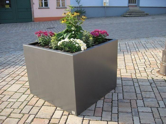 edelstahl pflanzk bel cubus classic 1000x1000x1000 inkl. Black Bedroom Furniture Sets. Home Design Ideas