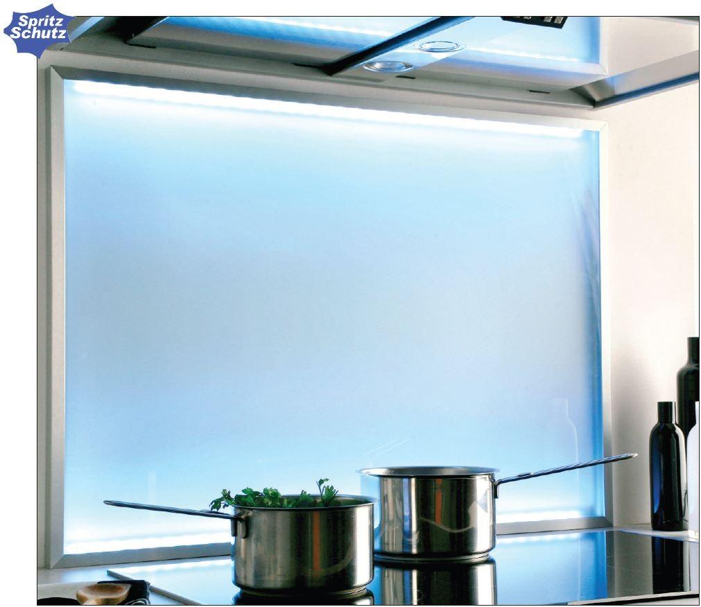 spritzschutz glas led beleuchtung tageslicht. Black Bedroom Furniture Sets. Home Design Ideas