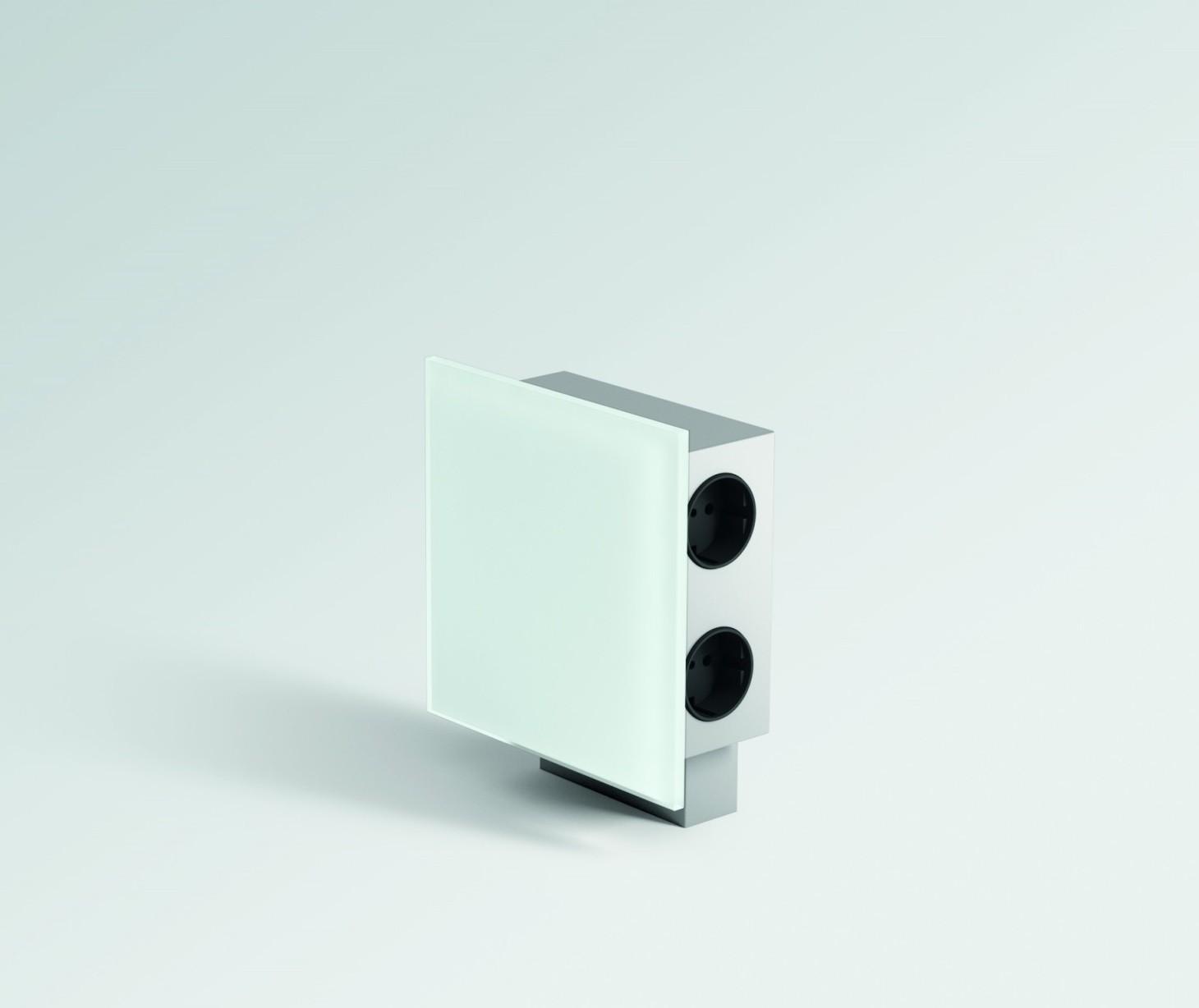 steckdoseneinheit powerquad aus edelstahl mit 2fach usb anschluss. Black Bedroom Furniture Sets. Home Design Ideas